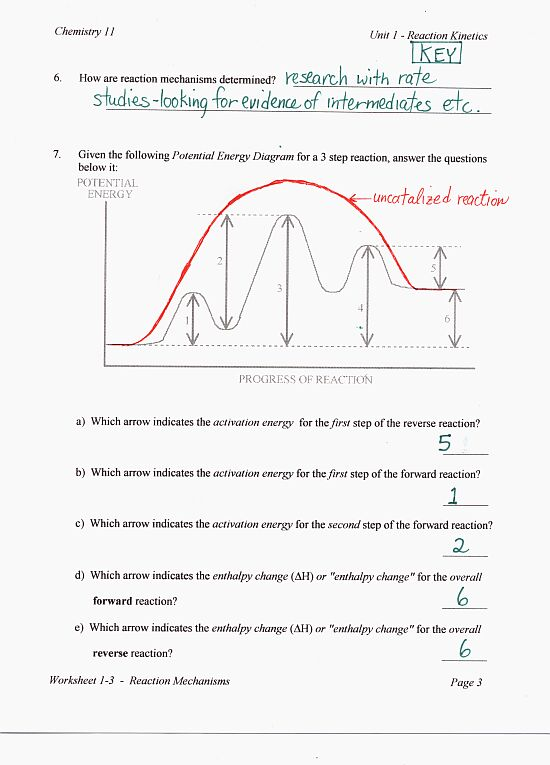 potential energy diagram worksheet key 240v photocell wiring chemistry 12