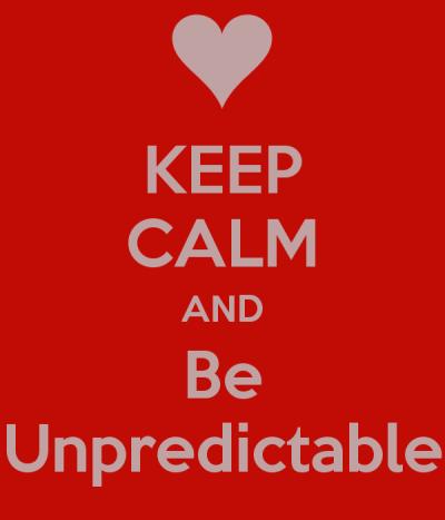 On Predicting the Unpredictable