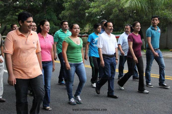 día sin auto Federico Rangel caminata