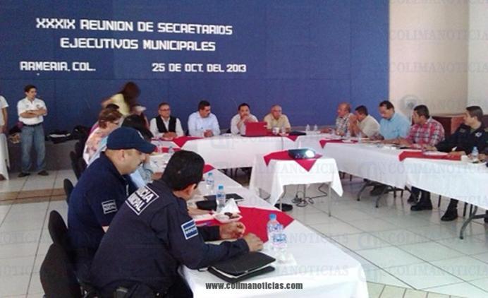 secretario ejecutivos de seguridad en armería