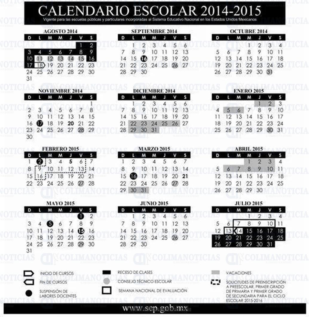 Publican calendario escolar 2014