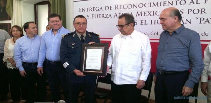 Colima entrega reconocimiento al Ejército y Fuerza Aérea