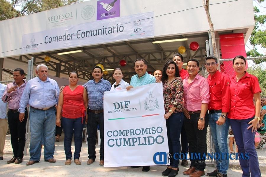 Inaugura DIF Estatal comedor comunitario en Las Conchas