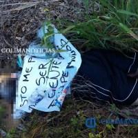 Dejan cadáver con mensaje en Campos