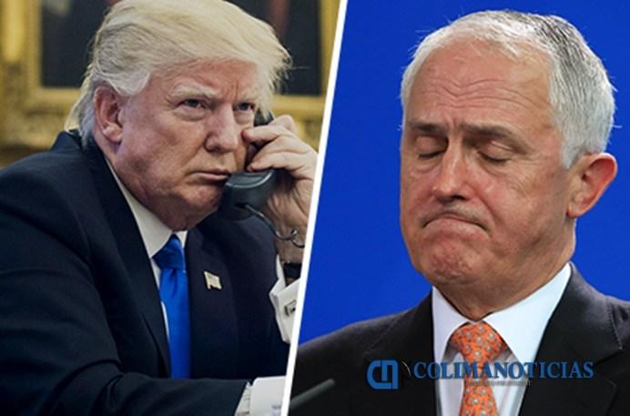 Trump le cuelga el teléfono al primer ministro de Australia