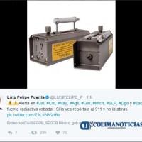 Roban fuente radiactiva y emiten alerta en 9 estados incluido Colima