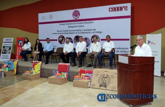 Presenta Consejo Nacional de Fomento Educativo logros y prácticas exitosas en Colima