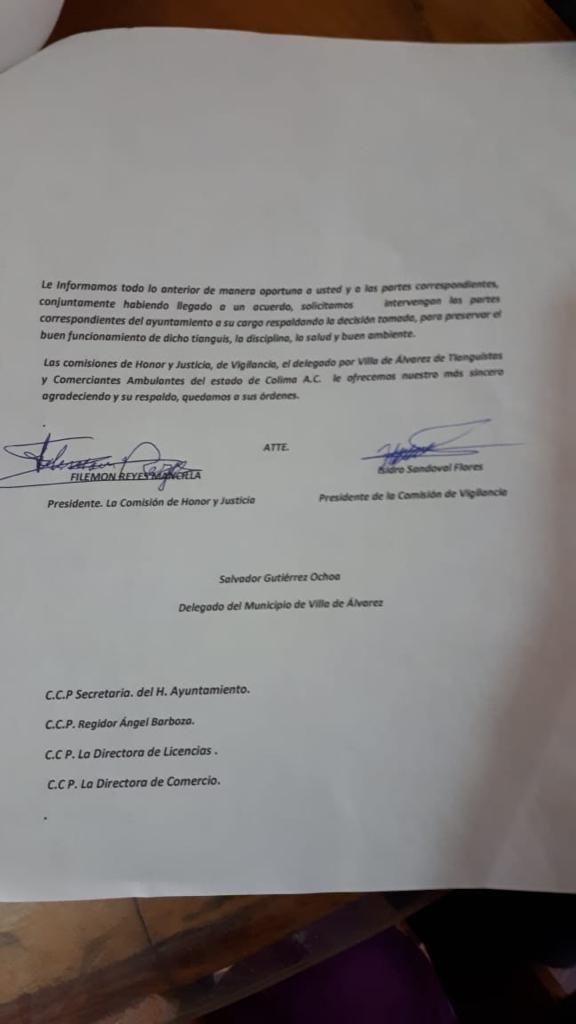 Evangelina Villaseñor documento 2 576x1024 - Felipe Cruz quiso pacificar situación de tianguistas: Directora de Licencias