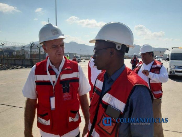api embajador visita 696x522 - Visita el puerto de Manzanillo Embajador de Costa de Marfil