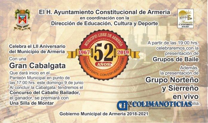 CONMEMORARAN EN ARMERIA ANIVERSARIO DE SER MUNICIPIO 696x413 - Armería festejará el 52 aniversario de ser Municipio Libre