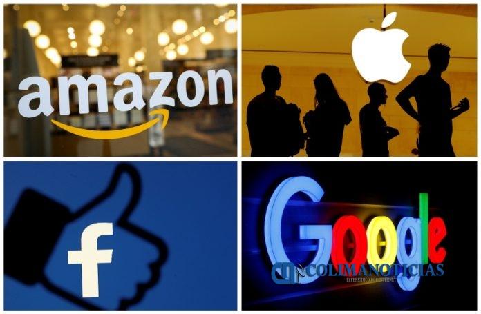 amazon apple facebook y google 696x455 - Amazon toma la delantera y se corona como el gigante de la tecnología