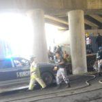 tráiler choque puente 150x150 - Dos lesionados graves, 4 camiones y un auto particular devastados: saldo del accidente ocurrido en Tapeixtles