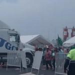 TRAILER manifestantes 150x150 - Trailero intenta abrirse paso en el bloqueo del recinto portuario