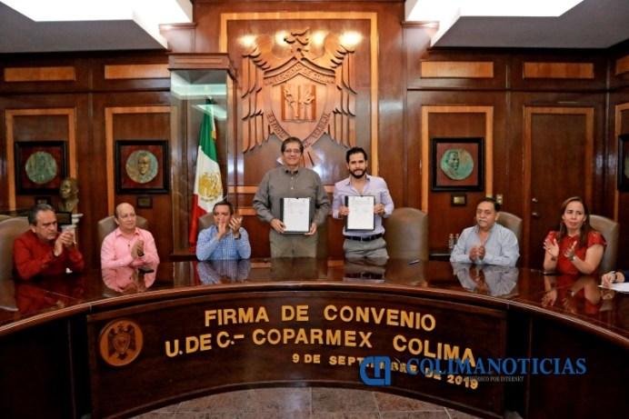 Firman Convenio UdeC y Coparmex