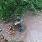 militares limpian 150x150 - Evacuan a personas de Cerro de Ortega