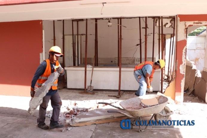 Rehabilita Gobierno del Estado escuela primaria de Manzanillo tras explosión
