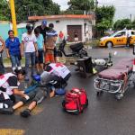 atropellado 150x150 - Taxi atropella a joven repartidor de comida en Tecomán