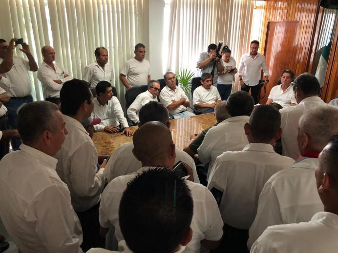 No prospera reunión entre Elías Lozano y cooperativa de mototaxis
