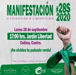 Agrupaciones Pro Aborto convocan a marcha esta tarde