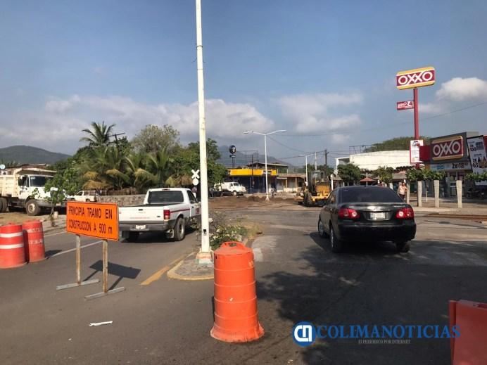 Por obras cierran calles en Armería.