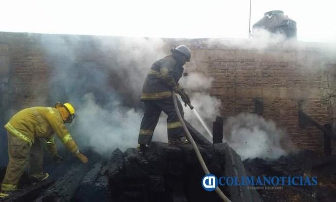 bomberos de tecomán incendio