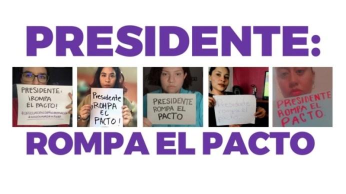 rompa-el-pacto piden mujeres a amlo