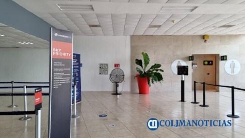 Aeropuerto Internacional Manzanillo-Costalegre, sin aire acondicionado
