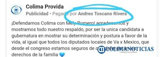 Facebook vinculado a Morena Colima ahora apoya a Mely (1)