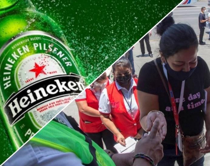 Heineken, primera empresa en México en vacuna a sus empleados y público en Monterrey