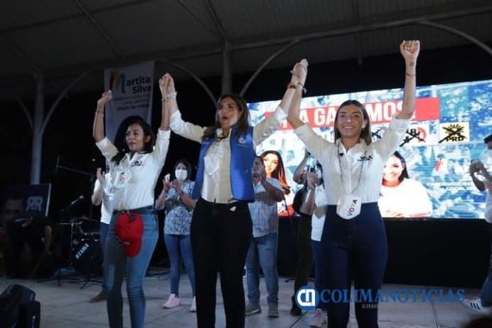 Más de 1500 personas asistieron al cierre de campaña de Fernanda Salazar