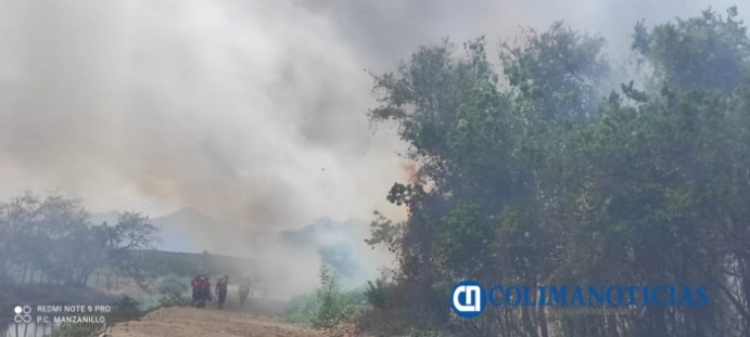 Sofocan incendio de pastizales en el Barrio V del Valle de las Garzas