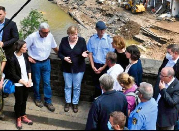 Merkel, en shock inundaciones alemania
