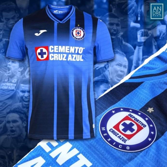Nuevo jersey Cruz Azul para el torneo de Apertura 2021 y Clausura 2022