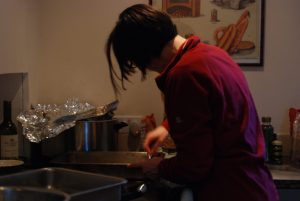 Alison cooking