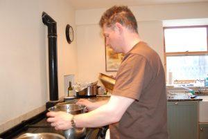 Ian cooking