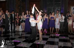 Black & White Dancefloor for Lucy and Gordon's amazing Wedding at Durham Castle