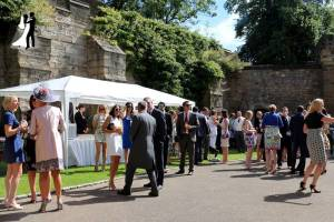 Master of Ceremonies Colin Cook providing Drinks Reception Music for a Durham Castle Wedding