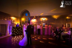 Wedding Evening Reception Disco First Dance at Ellingham Hall. Recommended DJ Colin Cook. Photo by the superbly talented Alan Mason