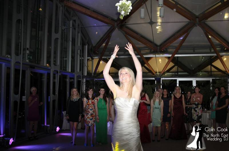 Alnwick Gardens Wedding DJ - Bouquet Toss