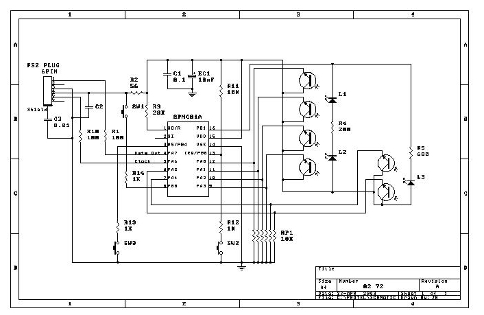 computer optical mouse circuit diagram