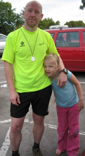 at the finish with my daughter Ruby