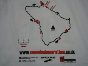 Snowdon Marathon T-shirt 2009 (back)