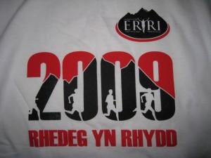 Snowdon Marathon T-shirt 2009 (front)
