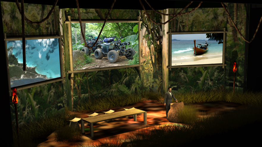 3D Set Design Lighting and Photorealistic Room Rendering for Conference and Events