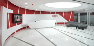 Dupont Corian Reception area