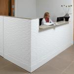 Corian White Reception Desk in Pattern