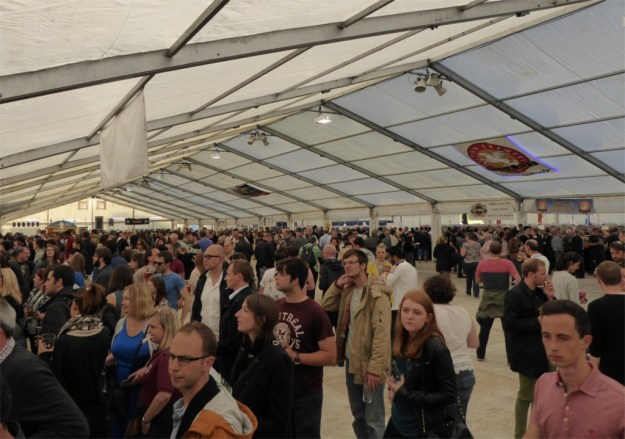 The beer tent at the beer festival