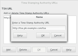 Adding a new timestamp authority