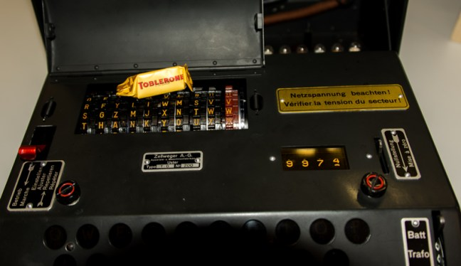 Swiss NEMA machine with Toblerone chocolate