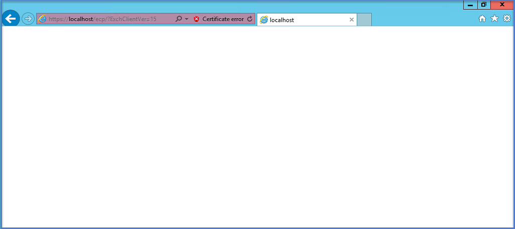 Exchange 2016 - Blank ECP/EAC Page - Collaborationpro com